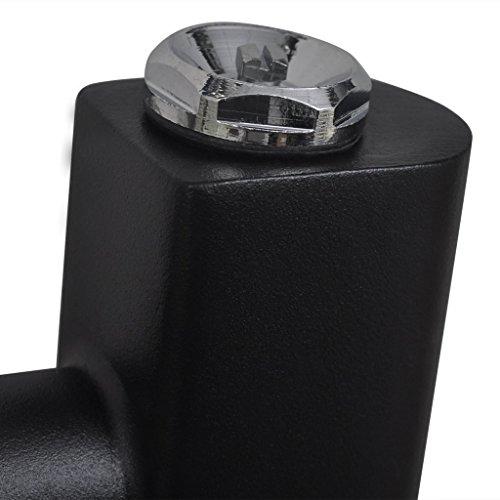 vidaxl badheizk rper handtuchheizk rper gerade 500 x 1732 mm schwarz heizk rper profi. Black Bedroom Furniture Sets. Home Design Ideas
