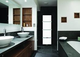Weiß Designer Handtuchhalter, beheizt, 500 mm breit, 1.500 mm, für Badezimmer, Modern, flach, vertikale Stövchen -