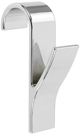Wenko 81912500 Rundheizkörper Haken, 4-er Set, Kunststoff ABS, 2,5 x 10,5 x 7 cm, chrom -