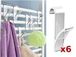 WENKO Rundheizkörper-haken Heizkörper Haken Handtuchhalter Handtuchhaken 6 stück -